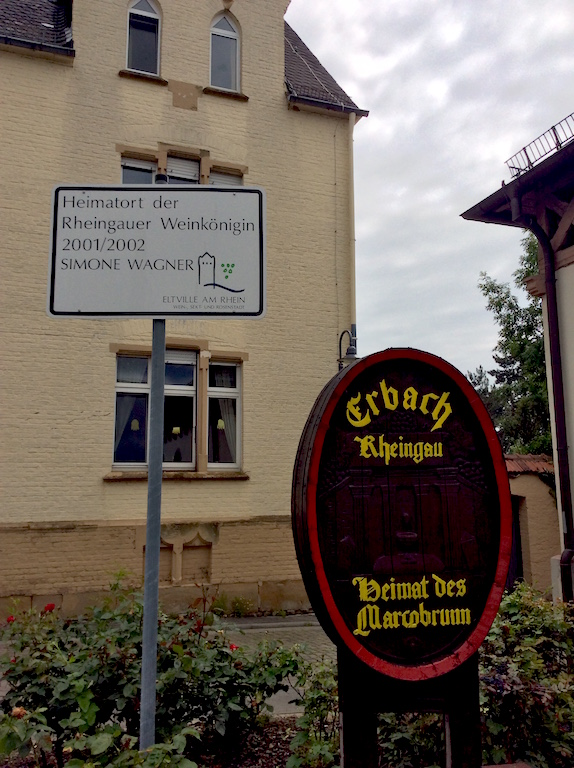 Beauty queen came from Erbach, home of the famous Marcobrunn vineyard.