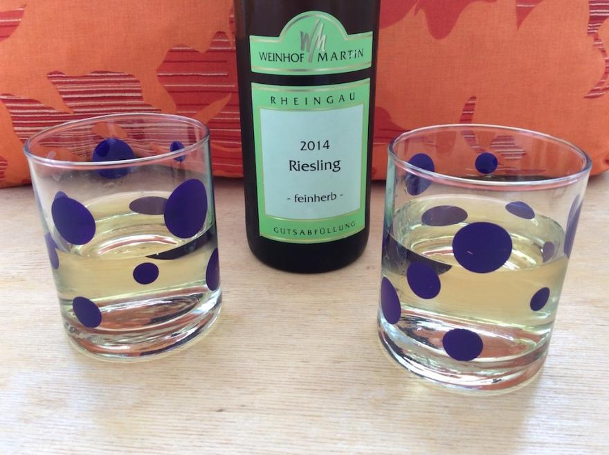We were enjoying the last bottle of Martin Winery wine