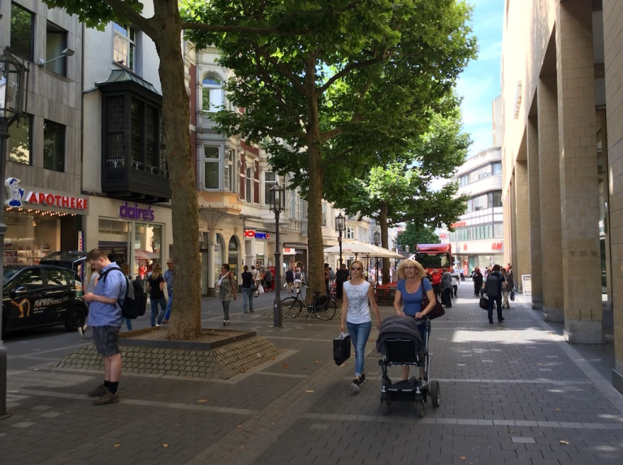 Bonn is full of walkable streets and plazas.