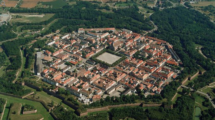Neuf-Brisach from the air. From Wikipedia