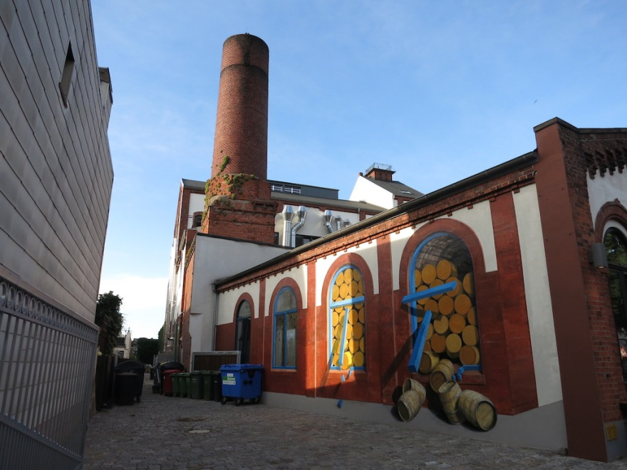 The brewery, with murals
