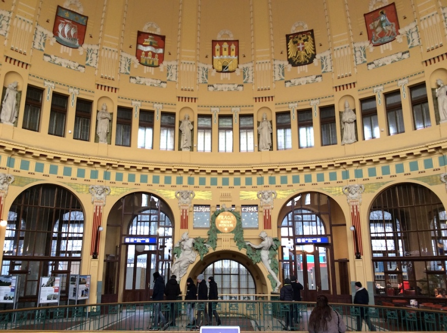 Train station interior