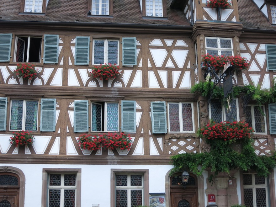 Alsace  half-timbered buildings