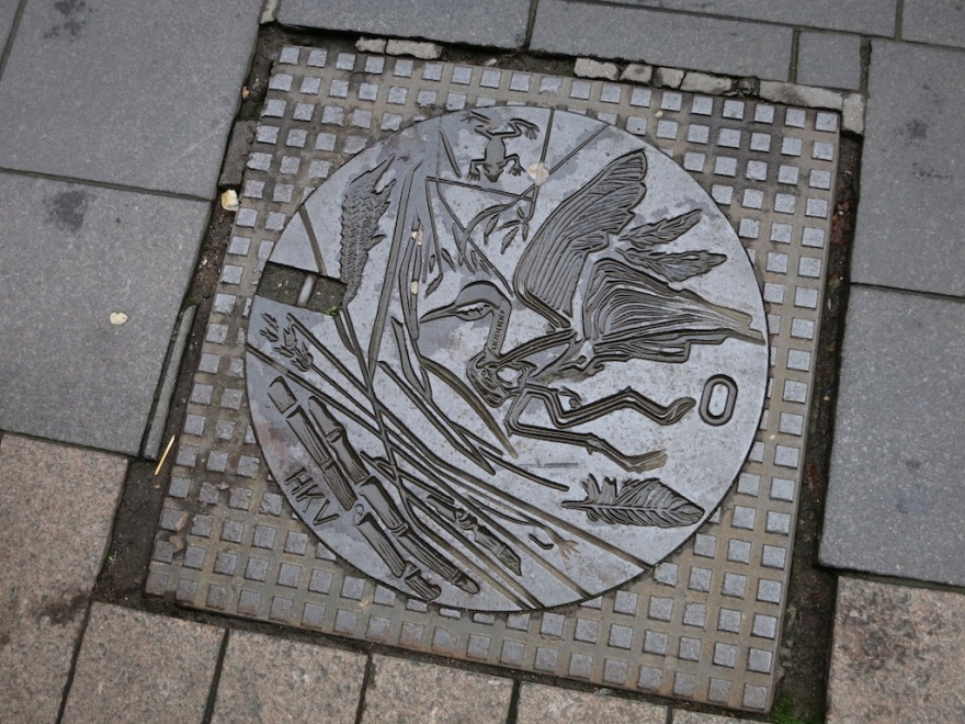 A manhole cover work of art